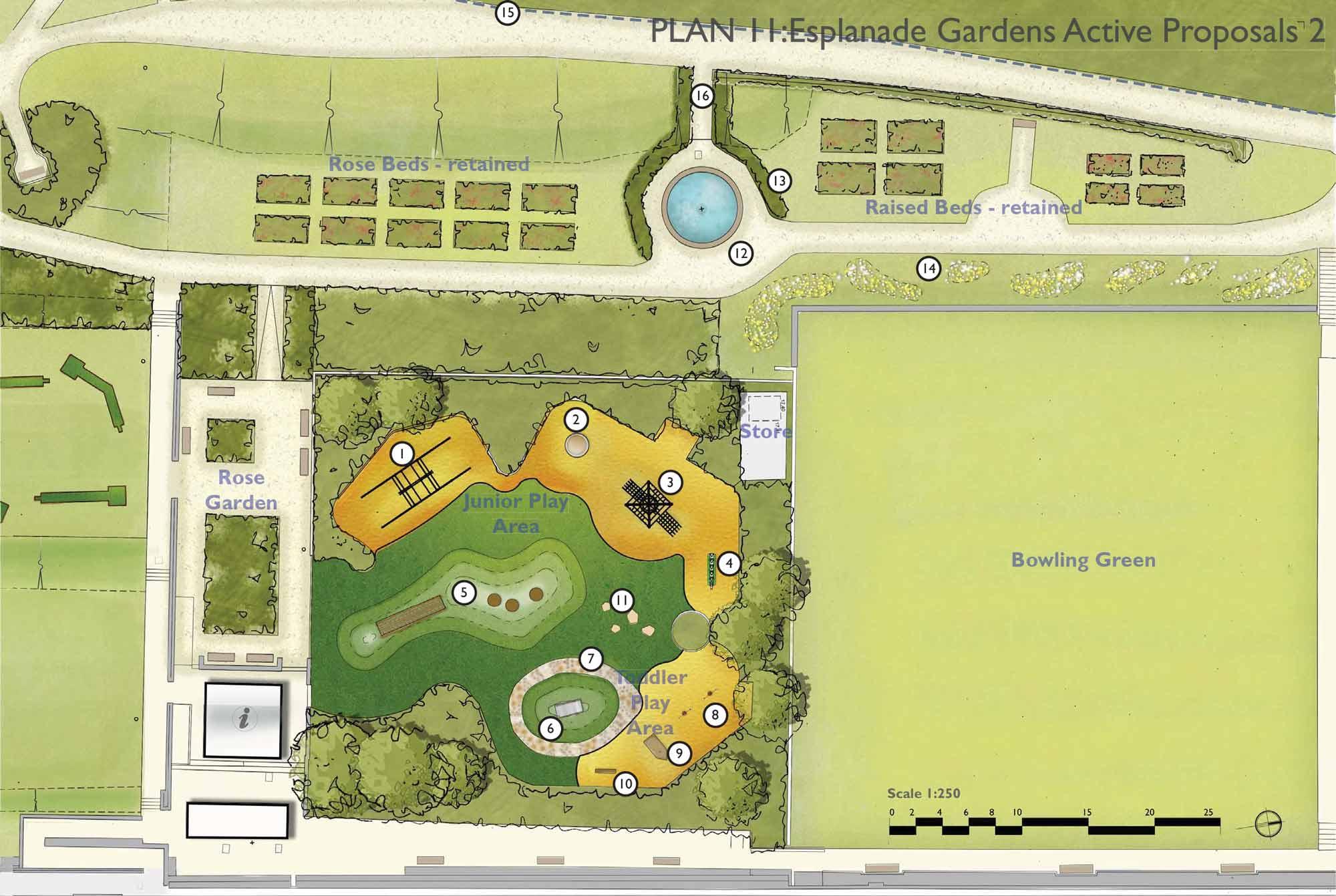 Extract of landscape plan for Hunstanton Heritage Gardens