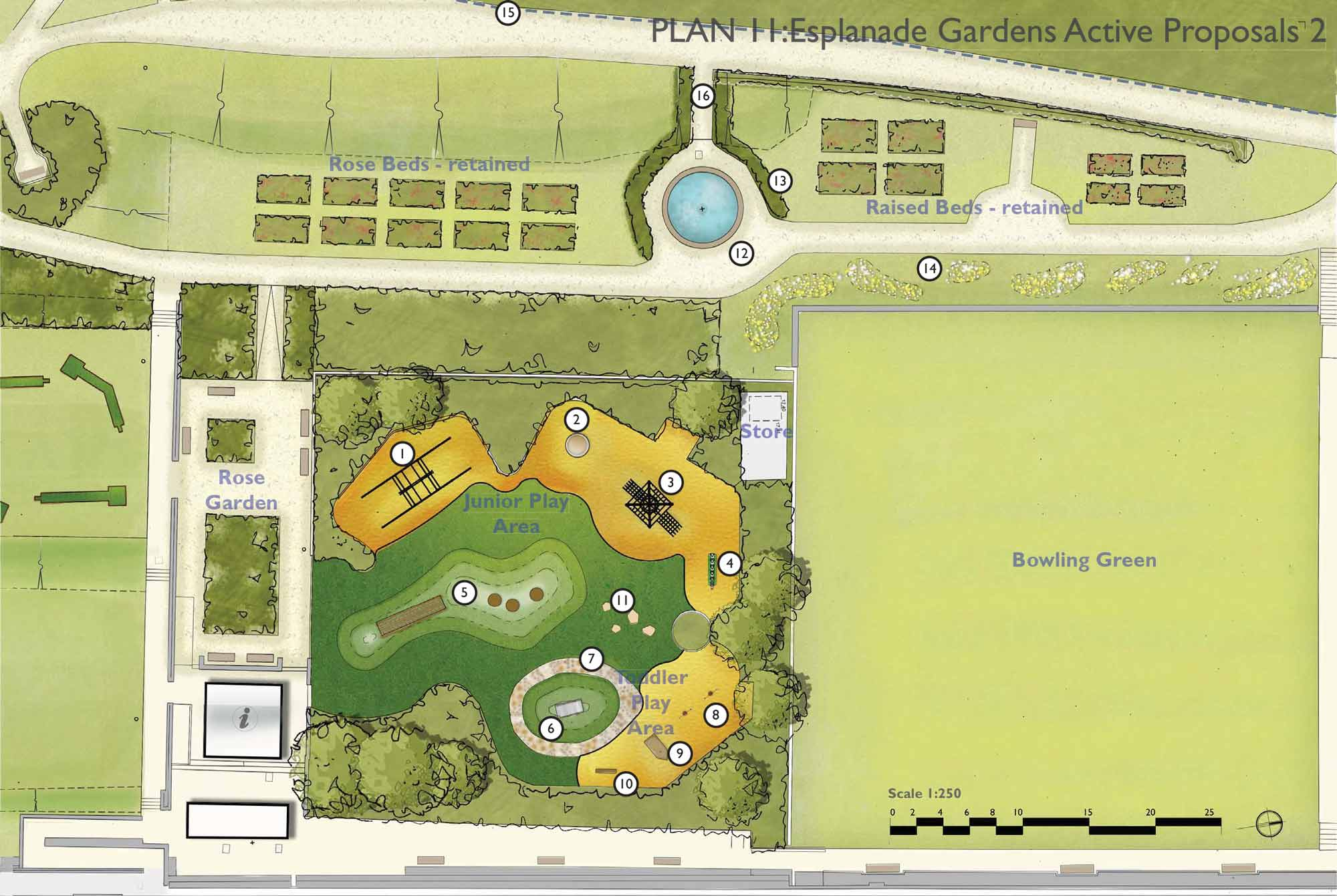 Extract of landscape plan for Hunstanton Heritage Gardens